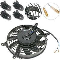 "9"" UNIVERSAL STRAIGHT COOLING RADIATOR FAN KIT CAR PUSH PULL BLADE ELECTRIC UK"