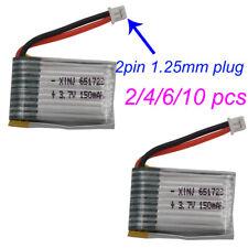 3.7V 150mAh 20C 2p 1.25mm for JRC H20 H36 NH010 Drone 651723 Li Polymer battery