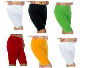 100%Premium Cotton Ladies Women Girls Cycling Shorts Dancing Running Gym Shorts