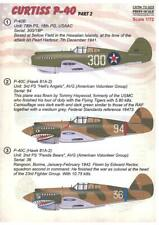 Print Scale Decals 1/72 CURTISS P-40C-CU WARHAWK Flying Tigers Part 2