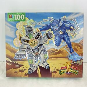 VTG 1994 Mighty Morphin Power Rangers Sealed Puzzle Green Dragonzord vs Baboo