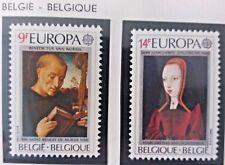 2 X Timbre Stamp Belgique Belgium België 1980 YT 1970 1971 EUROPA CEPT Neufs