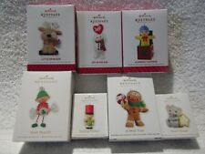 Hallmark 2008, 2010- 2013, 2014 Sweet Treat Elf, Smiling Soldier, Mouse Lot of 7