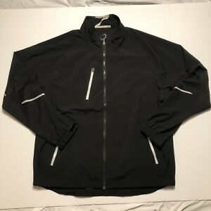 Zero Restriction XL Windbreaker Jacket Black Full Zip
