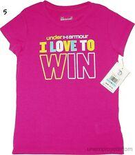 Under Armour Tee Top T Shirt Little Girls Athletic Sports Short Sleeve Summer ua