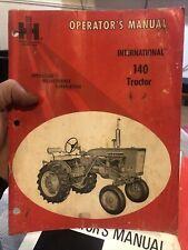 New Listinginternational Harvester 140 Tractor Operators Manual