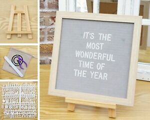 """10"""" Square Letter board Message Pin Boards Wall Hanging Messages Sign Oak Frame"""