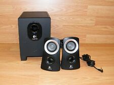 Genuine Logitech Z313 (S-00093) Black Wired Speaker System With Subwoofer *READ*