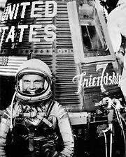 Astronaut John H. Glenn Jr. With Mercury Friendship 7 Spacecraft 10x8 Photo