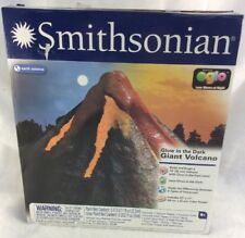 Smithsonian Earth Science Glow In The Dark Giant Volcano! Free Shipping!