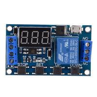 DC 9V 12V 24V Digital LED Trigger Delay Cycle Timer Relay Module w/ Micro USB im