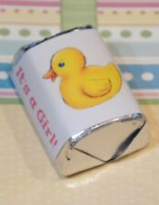 30 Baby Shower Its a Girl Duck Hershey Candy Nugget Wrappers Stickers