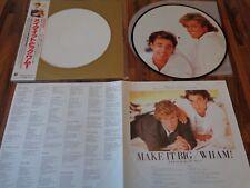 "WHAM - ""MAKE IT BIG"" - LP VINYL + OBI - PICTURE DISC  - JAPAN - 1984"