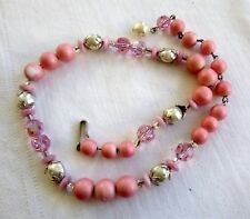 Vintage HOBE' Choker Bead Necklace Dazzling Crystals Sim Pearls Signed