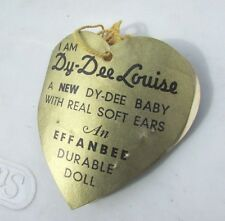 "Effanbee Dy-Dee Louise Mold 2 Hang Tag 20"" Side Double Tag Very Rare Vintage"