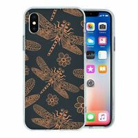 For Apple iPhone X Silicone Case Dragonfly Pattern - S7410