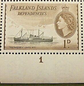 FALKLAND ISLANDS DEPENDENCIES 1954-62 SG G27 1d. BLACK AND SEPIA-BROWN  -  MNH