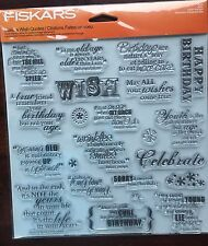 Happy Birthday Quotes Clear Cling Stamp Set, New, 2014