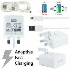 GENUINE SAMSUNG FAST CHARGER PLUG & MICRO USB CABLE FOR TABLETS / NOTE / PHONES