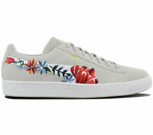 Puma - Floral Suede Sneakers Shoes - Size 5.5