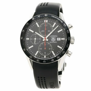 TAG HEUER Carrera Watches CV2014-2 Stainless Steel/Rubber mens