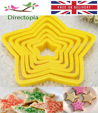 6 Star Shaped Cookie Icing Fondant Cake Decorating Cutter Set Kitchen Tool
