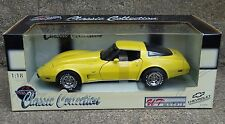 UT 1978 Chevy Corvette L-82 Coupe Anniversary 1:18 Scale Diecast Yellow '78 Car