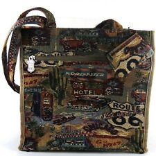 Jade Brand Route 66 Purse Tote Bag Get Your Kicks on Route 66 Travel Overnight