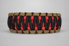 550 Paracord Survival Bracelet King Cobra Red/Coyote Brown/Black Camping