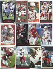Lot of 100 Different Arizona Cardinals Cards; 1988-2010; NM-Mint