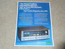 Sansui 7070 Super Receiver Ad, 1976, 1 page, Article, Beautiful Ad!