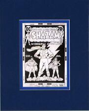 SHAZAM #3 B/W COVER ART MATTED PRINT Frame Ready CAPTAIN MARVEL