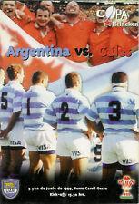 Il Galles V ARGENTINA 1999 RUGBY PROG & DVD Set-Welsh Rugby's sei dei migliori anni'90