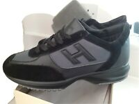 HOGAN INTERACTIVE H FLOCK MENS TRAINERS/SNEAKERS BLACK/BLACK - LIMITED STOCK