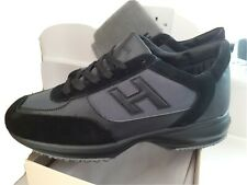 HOGAN INTERACTIVE MENS TRAINERS/SNEAKERS BLACK/BLACK - LIMITED STOCK - BOXED NEW