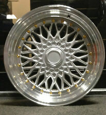 """4 x 17"""" BBS RS STYLE ALLOY WHEELS TO FIT FORD FIESTA FOCUS 4X100/108"""