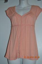 Max Studio small pink cap sleeve top NWT