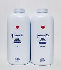 Johnson's Baby Powder 2-Pk Original Formula 22 oz Talc Talcum No Parabens Sealed