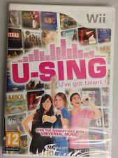 Nintendo Wii U-Sing U've got talent Genuine UK PAL New Factory Sealed.