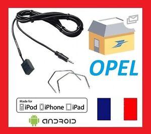 Cable Auxiliaire Opel Corsa a partir de 2006 CD30//CD30 MP3