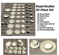 VINTAGE Royal Doulton Stoneware 42-Piece Dinnerware Set HARVEST GARLAND 1977-92