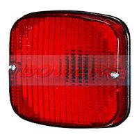 Rear RED Amber Stop Indicator Tail Lamp 6 Lens for Britax Combination Light fits JCB Loadall Telehandlers Trailer