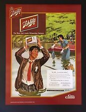 """Schlitz Beer Posters-Reproduction 1951 Advert. """"It's OK... I saved the Schlitz"""""""