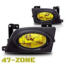 For 2006-2008 Honda Civic Sedan Yellow Lens Bumper Fog Light Lamp Complete Kit