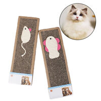 Cat Card Board Scratcher Bed Kitten Free Catnip Pad Toy Play HI
