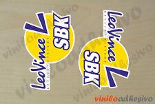 PEGATINA STICKER VINILO LeoVince SBK exhaust autocollant aufkleber adesivi