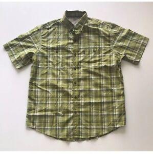 G.H.Bass & Co Men's Short Sleeve Button Down Shirt, Color : Woodbine