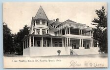 MICHIGAN ROARING BROOK INN POSTED 1908 TO MISS ANNA MAINES, FORT WAYNE, INDIANA