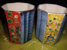 2 Chinese Tea Cups. Hand painted.Have made mark.