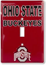 Ohio State Buckeyes Aluminum Novelty Single Light Switch Cover